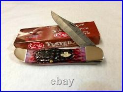 Case XX Knife 74174 Crimson Bone Folding Hunter Damascus New in Box