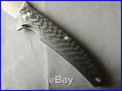 Cheburkov Raven Damascus CF Folding Knife