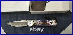 Chris Reeve L31-1410 Large Sebenza 31 Unique Damascus Hematite Folding Knife