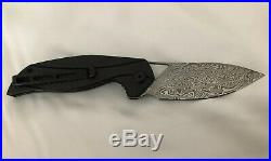 Civivi Anthropos Linerlock Folding Knife 3.25 Damascus Steel Blade G10 Handle