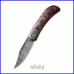 Civivi Appalachian Folding Knife Red Black CF Handle Damascus C19010C-DS2