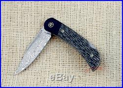 Civivi C914DS2 Rustic Gent Damascus plain blade lock back Folding Pocket Knife