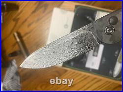 Civivi Elementum Button Lock Folding Knife Black Marble CF Damascus C2103DS-3