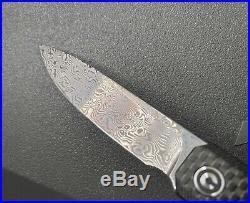 Civivi Exarch Linerlock Carbon Fiber/G10 Folding Damascus Pocket Knife 2003DS1