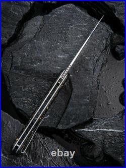 Civivi Incite 3.7 Damascus Carbon Fiber Gold Shred Folding Knife C908DS-1