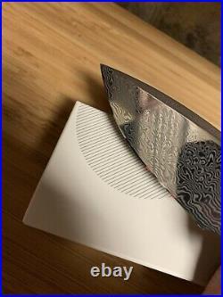 Civivi Incite Damascus Copper Shred Carbon Fiber Folding Knife Mirror Edge