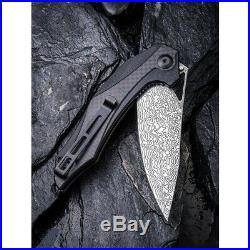 Civivi Plethiros Linerlock Folding Knife 3.5 Damascus Steel Blade G10 Handle