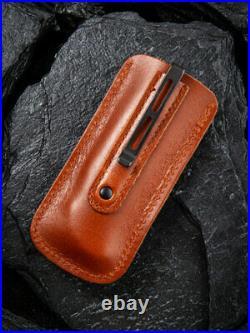 Civivi Rustic Gent Folding Knife 2.88 Damascus Steel Blade Brown Micarta Handle
