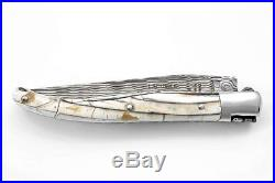Claude Dozorme Laguiole Damascus Folding Pocket Knife / Mammoth