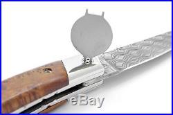 Claude Dozorme Laguiole Damascus Folding Pocket Knife / Thuja New