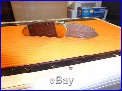 Collectible Damascus Chubby Elephant Toe Folding Knife- Lock back/No Box