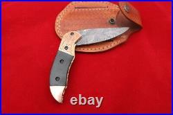 Copper Micarta Pocket Folding Knife Damascus Knife Sale Knives On Sale
