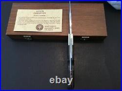 Custom Boker Handmade Damascus Lockback Folder Folding Knife