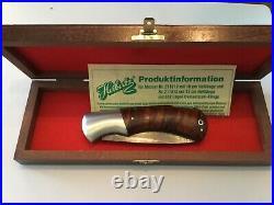 Custom C. J. Herbertz Damascus/Wood Lockback Folding Folder Knife