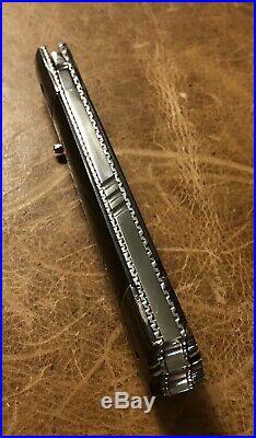 Custom Handmade Harald Moeller Folding Knife Eggerling Damascus