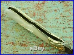 Custom Maker Ken Steigerwalt Pearl Damascus Folding Pocket Knife Vintage Knives