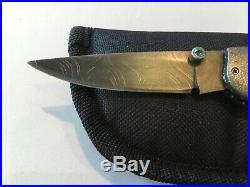 Custom Michael Allen Whiskers Damascus Lockback Folder Folding Knife