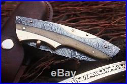 DKC-169 Sweet Sally Damascus Steel Folding Pocket Knife 5 Folded 9 Long 3 Bla