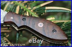 DKC-38 DIPLOMAT Damascus Folding Pocket Knife 7.5 Long, 4 Folded 4oz Pocket