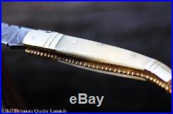 DKC-62-W WHITE PRINCE Laguiole Damascus Steel Folding Pocket Knife 4 Folded