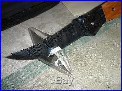 DOC HAGEN DAMASCUS folding lock back art knife