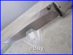 DON MAXWELL custom folding liner lock knife damascus