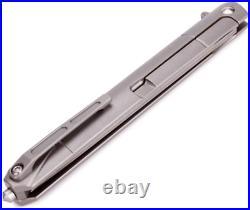 Damascus Folding Pocket Flipper Knife Tanto Blade Titanium Handle Small Slim EDC