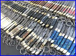 Damascus Handmade 5 Folding pocket Knife Keychain Folding Knife (Lot Of 100)