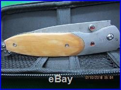 Damascus/Mammoth Folding Knife