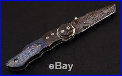 Damast Messer Jagdmesser Damastmesser Taschenmesser Damascus Folding Knife Tanto