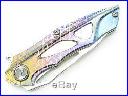 Dew Hara Seki Japan Custom 1/1 Noah Damascus Tanto Flipper Folding Pocket Knife