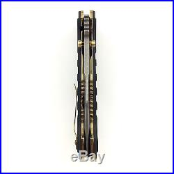 Discontinued Benchmade Gold Class Vicar Folding Knife Damascus Blade 757-151