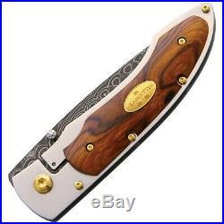 Fallkniven 35th Anniversary Folding Knife 3 Damascus Blade Ironwood Handle