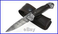 Folding knife Junker2. Handmade. Damascus. Russian. Original. Tourism. 08050729