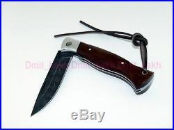 Folding knife Wolf. Handmade. Damascus. Russian. Original. Tourism. NWFCSDKRTG