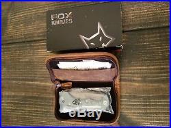 Fox Desert Damascus Blue Titanium Folding Knife FX-521DLB