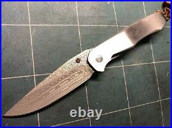 Free shipping Damascus Lochsa folding knife Scott Cook