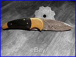 Hand Made Damascus folding knife LAGUIOLE Style in Wood Pocket Knife