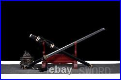 Handmade Damascus Folded Steel Chinese Sword Tang Dao Combat Ready Asia Knife