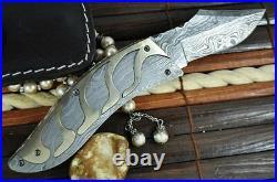 Handmade Damascus Folding Knife Amazing Design By Perkin Knives