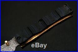 Handmade Damascus Pocket Folding Knife Skinning Knife Micarta Handle Sheath