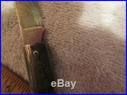 Handmade Folding Knife.'Doc' Hagen. Damascus Mammoth. New