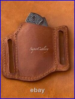 Handmade Solid Full Damascus Steel Best Folding Knife Premium Knives Us Sale Fol