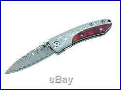 Herbertz 71 Damascus One Hand Folding Pocket Knife /wood 217009