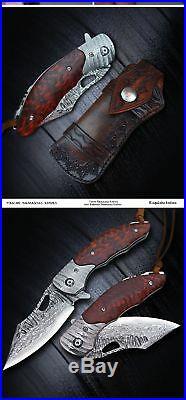 High Hardness Damascus Knife Tactical Pocket Folding Blade Outdoor Survival