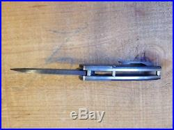 James Coogler Custom Damascus Folding Knife