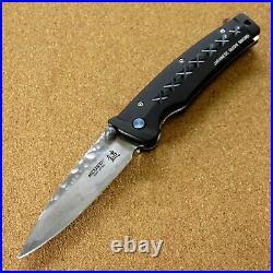 Japanese MCUSTA MC-016 FUSION Folding Knife Damascus 33 Layers Blade SEKI JAPAN