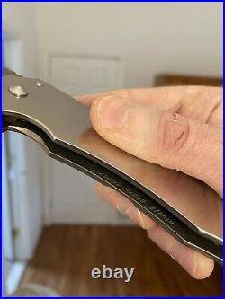Jeremy Marsh Full Custom Slimline Dress Roxstar Damascus Flipper Folding Knife