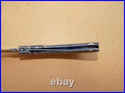 Jim Downs Custom Folding Knife Abalone & Damascus