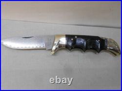 KERSHAW 1050 Folding Field Knife 30th Anniversary Damascus Blade